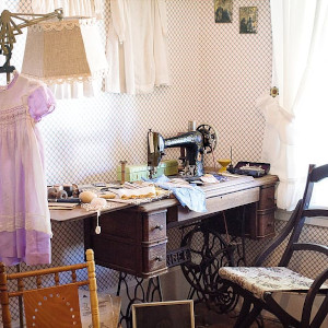 setting up sewing room